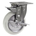 Swivel <=> Fixed Replacement Caster, Pivotal Stopper, NJKB