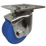 Stainless Steel Low Platform Type Swivel Caster without Stopper (Dual Wheel) K-1508-W for Heavy Loads