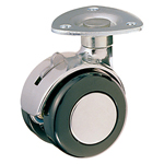 Dual Wheel Free-Swivel Caster, with Stopper, K-200MYS