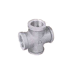 Pipe Fittings - Cross (with Band) - Plated