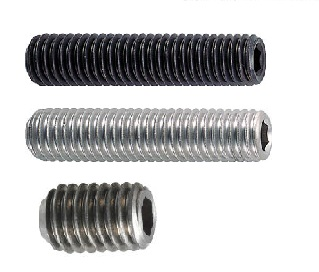 Hexagonal Socket Head Set Screw (Black Oxide Finish) (Stainless Steel) (Titanium)