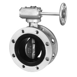 10K/16K Flange Type Butterfly Valve <Spherical Graphite Cast Iron> - Gear Type 10K Flange Type Rubber Sheet