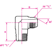 NPT Connection Adapter Male 90° Elbow 1092