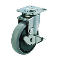 SUS-J2-S Swivel Caster, Plate Type (with Stopper)