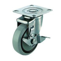 SUS-SJ-S Swivel Caster, Plate Type (with Stopper)