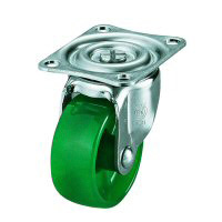 G Swivel Caster (Single-Bearing) Plate Type, Polycarbonate Wheel