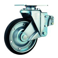 SKY-S, Swivel Caster (Radial Ball Bearing) Plate Type (with Stopper)