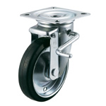 PMS-LB Swivel Caster, Plate Type Lever Type with Double Stopper