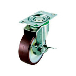 SUS-E-S Swivel Caster, Plate Type (with Stopper)